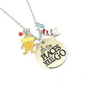Jewelry - Dr. Seuss Necklace Oh the Places You will Go